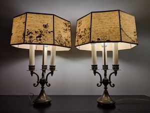 "20"" Pair of brass antique lamps for Sale in Alexandria, VA"