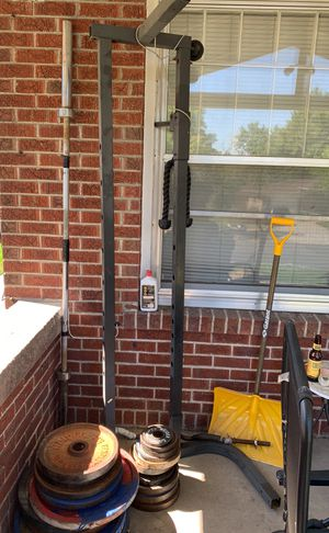 Squat rack power rack home gym bench press Olympic for Sale in Denver, CO