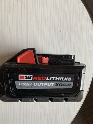 Milwaukee M18 18volt Lithium Ion High output 6.0 battery pack for Sale in Lincoln, MA