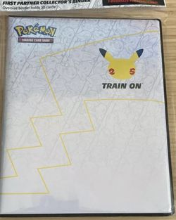 2021 Pokemon tcg 25th FIRST PARTNER Collectors BINDER with jumbo PIKACHU card for Sale in Tampa,  FL