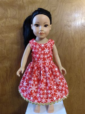 "American Girl Or 18""inches Doll Dress for Christmas made to fit 18 inches dolls for Sale in Peoria, IL"