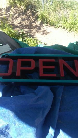 Open sign for Sale in El Paso, TX