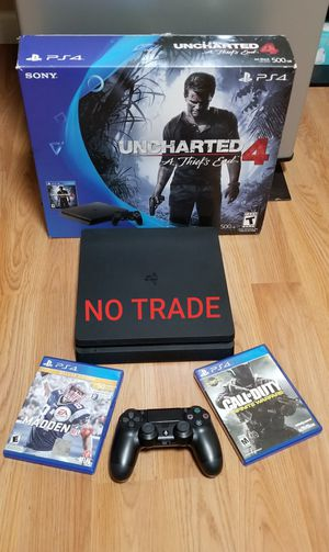 PS4 SLIM 500GB BUNDLE LIKE NEW, FIRM PRICE, READ DESCRIPTION FOR OPTIONS for Sale in Garden Grove, CA