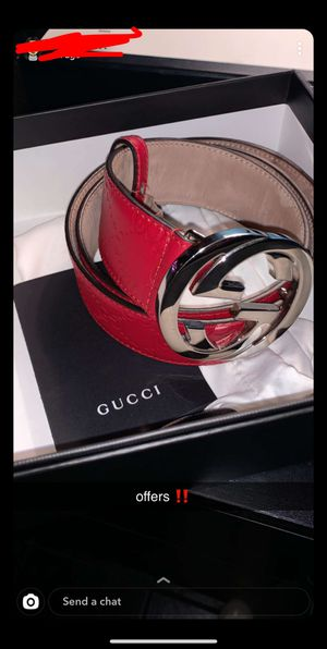 Red signature Gucci belt authentic for Sale in Chicago, IL