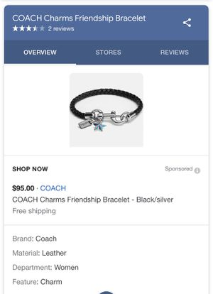 Coach charms bracelet for Sale in Alexandria, VA