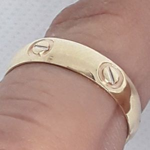 "Real Solid 14K Gold Custom Made ""Love"" Ring Available in Size 6 & 7 for Sale in Hallandale Beach, FL"