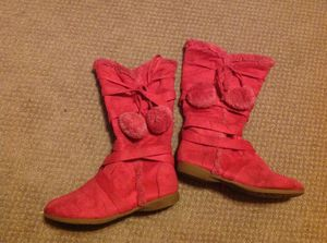 Hot pink suede boots size 3 for Sale in Goldsboro, PA