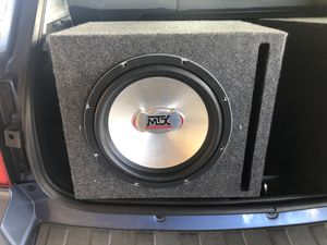MTX 12 inch Subwoofer in ported box - PERFECT CONDITION for Sale in Tempe, AZ