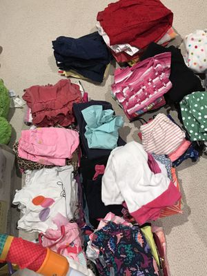 Boxes of girls baby/toddler clothes, leggings, dresses, shirts, sweaters etc sizes newborn-18 months/2T/3T/4T for Sale in Miramar, FL