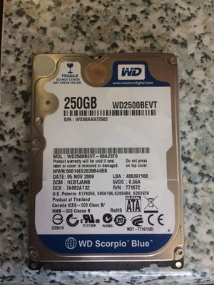 250 GB WD Scorpio Blue for Sale in Philadelphia, PA