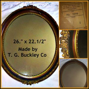 Vintage gold and bronze oval mirror for Sale in Poway, CA