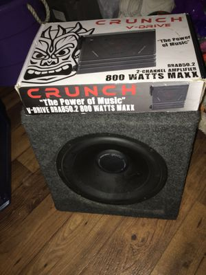 "Crunch app new in box and 12"" Polk audio subwoofer for Sale in Nashville, TN"
