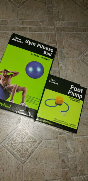 Core work out ball and pump for Sale in Mercedes, TX