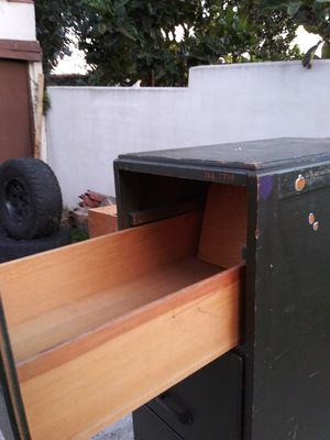 ANTIQUE WOODEN FILE CABINET for Sale in San Pedro, CA