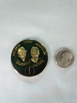 Yrs 1-40 Bob&Bill W AA Anniversary Recovery Coin Sage Green for Sale for sale  Morganton, NC