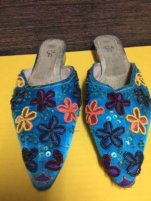 Beaded Flat Slip-on Shoe; Size 41 for Sale in Las Vegas, NV
