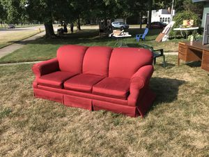 Sofa, three cushion, red for Sale in Oshkosh, WI