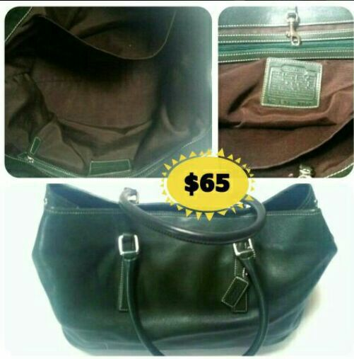 Auth leather coach