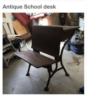 (2) antique school desks $40 per for Sale in Seattle, WA