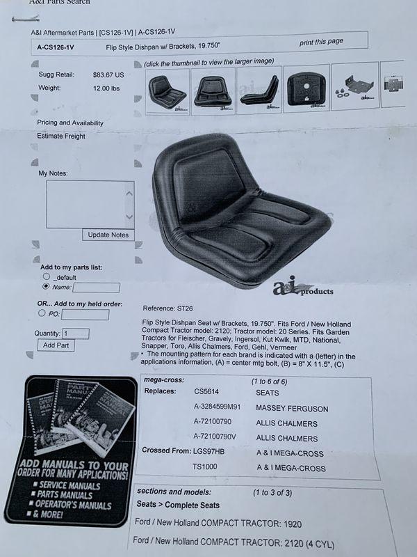 Trailer seat (new)