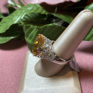 Genuine Citrine Ring in Sterling Silver, sizes 8,9,10 for Sale in Shavano Park, TX