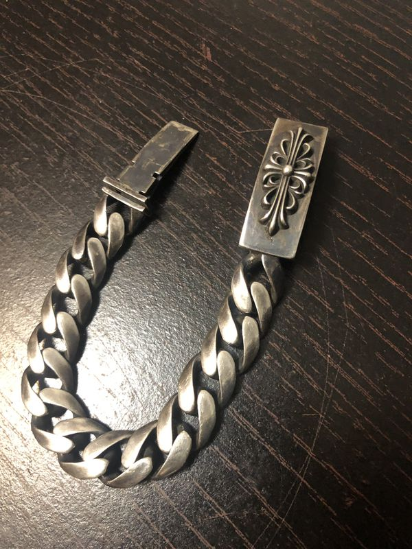 Rare Chrome Hearts 1997 Sterling Silver Link Bracelet - 8.5 Inches - 90.3 Grams