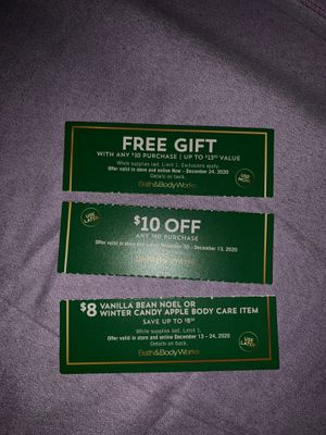 BATH & BODY COUPONS - good for CANDLE DAY!! for Sale in San Bernardino, CA