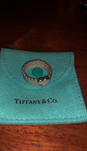 Authentic Tiffany &Co mesh hear ring size 9 for Sale in San Diego, CA