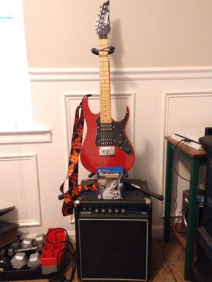 Ibanez 6-String Electric Guitar, Titan Stand, AcousticB20 Bass Amp, and Rocksmith (PS4 game) for Sale in Acworth, GA