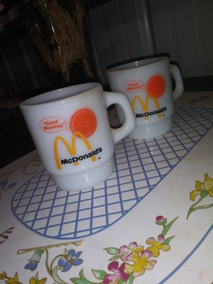 Set of 2 Vintage McDonald's Good Morning coffee mugs for Sale in La Vernia, TX