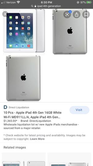 iPad 4th Generation for Sale in ARSENAL, PA