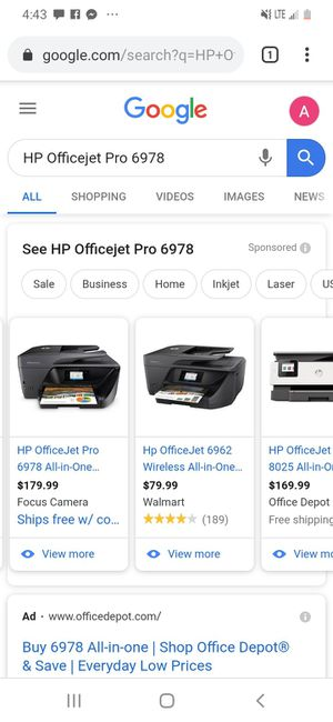 Hp office jet pro all in one for Sale in Wichita, KS