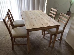 IKEA Dining Table and Chairs for Sale in Arlington, VA