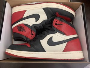 Jordan 1 bred toes 2018 release for Sale in West Valley City, UT