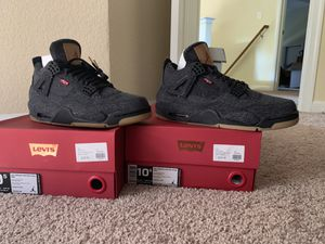 Levi Jordan 4 all black size 9.5 & 10.5 (Levi's tag) for Sale in Suffolk, VA