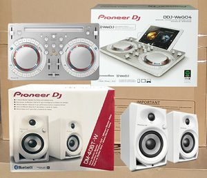 Pioneer DJ WeGo4 Controller Rekordbox Virtual Dj Spotify 2 Ch Mixer All White Package Studio Bluetooth Speakers 🚨 90 Day Payment Option Available for Sale in Los Angeles, CA
