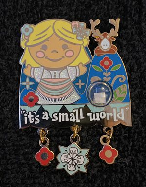 Disney Pin #204, LE (1500), 2014, A Piece of Disneyland Resort History, It's A Small World for Sale in San Diego, CA
