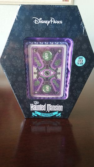 Disney Parks Haunted Mansion Glow-in-the-Dark Playing Cards for Sale in Tampa, FL