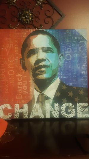 Painted picture of Obama-Change for Sale in Nashville, TN
