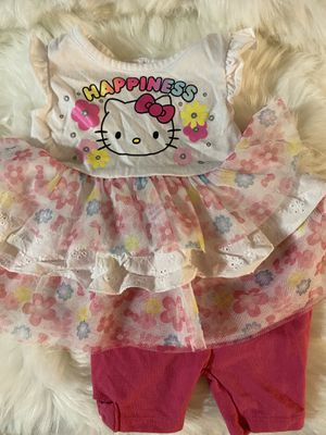 Baby girl hello kitty outfit for Sale in Glendale, AZ