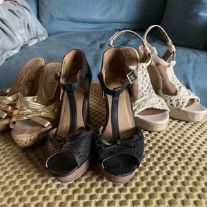 Dressy Wedge Sandals - Size 6.5/7 for Sale in Seattle, WA