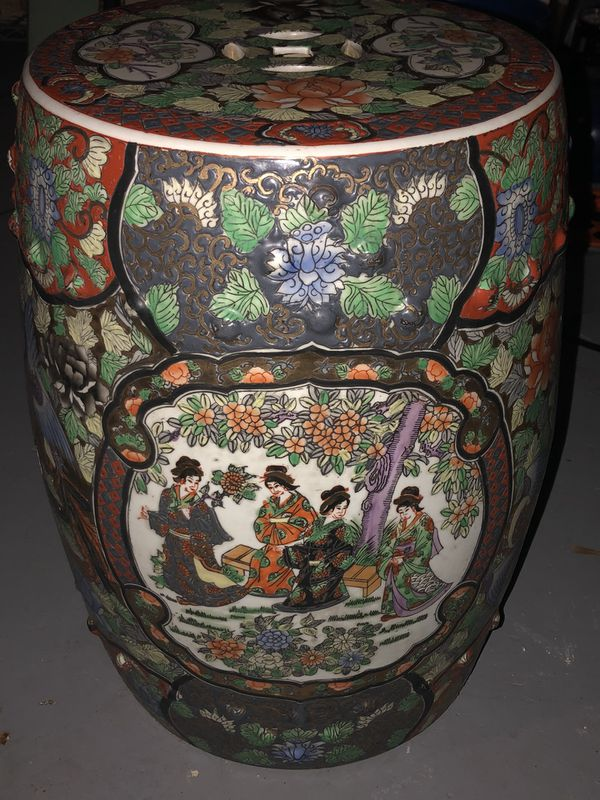 Chinese Ceramic End Table