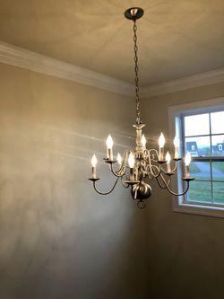 10 light chrome style chandelier. for Sale in Purcellville,  VA
