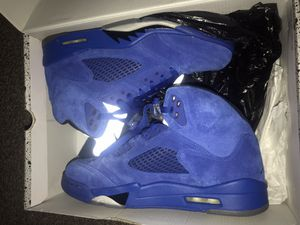 Air Jordan 5 Retro Blue Suede Men Size 8 1/2 for Sale in Ontario, CA
