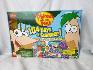 Phineas and ferb 104 days of summer board game for Sale in Zanesville, OH