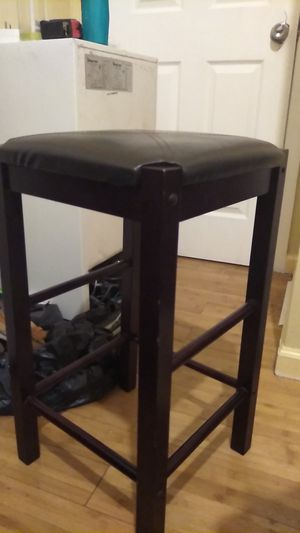 LEATHER CUSSIONED SINGLE BAR STOOL for Sale in New York, NY