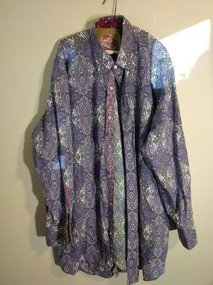 Men's size 3x button up multicolored shirt purple white for Sale in Takoma Park, MD
