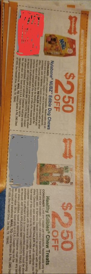 Clipping Service: Nylabone Coupons for Sale in South Williamsport, PA
