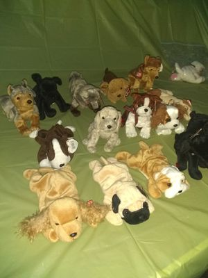 Beanie babies huge collection were sealed up in plastic bags for almost twenty year's for Sale in Dania Beach, FL