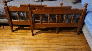 Wooden twin head board frame for Sale in Monroe, MI